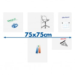 Tableau blanc board-up Legamaster 75x75cm